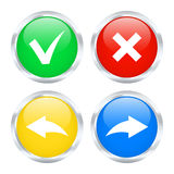 Undo and redo buttons. Set of undo and redo buttons. Vector illustration Royalty Free Stock Photos