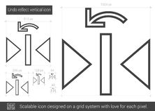 Undo reflect vertical line icon. Royalty Free Stock Photo