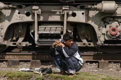 Undocumented migrant Stock Photography