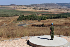 UNDOF soldiers in Golan Heights Stock Image