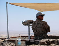 UNDOF UN Observer on Mount Bental, Israel Royalty Free Stock Photos