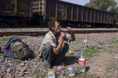 Undokumentierter Migrant Stockfotos