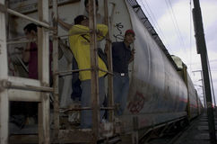 Undokumentierter Migrant lizenzfreie stockfotos