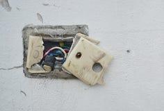 Undone AC power socket Royalty Free Stock Images