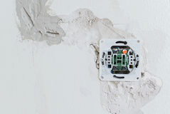 Undone AC power socket Stock Images