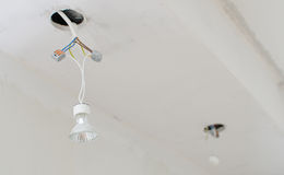 Undone halogen light bulbs Royalty Free Stock Photo