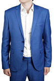 Undone two-button men dress bridegroom or prom, light blue color Stock Images