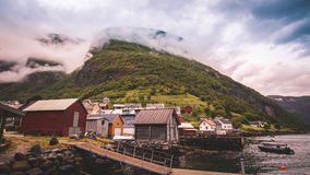 Undredal is a small village in the municipality of Aurland in Sogn og Fjordane county Stock Photos
