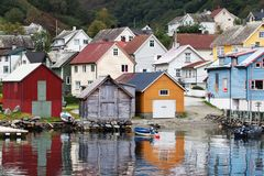 Undredal from the Sognefjord. Norway Stock Photography
