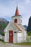 Undredal Stave church exterior in Undredal, Norway. Royalty Free Stock Photo