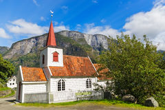 Undredal Stave churchl, Norway. Built in 12th century, it is the smallest in Norway Royalty Free Stock Photos