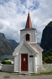 Undredal Stavkyrkje ,Norwegian stave church in Fjord Village. Royalty Free Stock Images