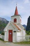 Undredal梯级教会外部在Undredal,挪威 免版税库存照片