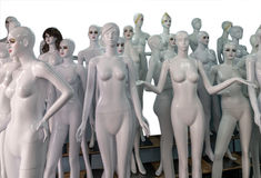 Undressed mannequins Stock Image