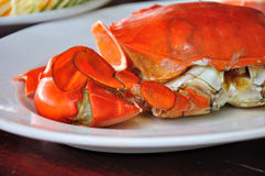 Undressed roasted crabs prepared Royalty Free Stock Photography