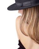 Undressing blong in cappello Fotografie Stock Libere da Diritti