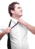 Undressing do homem de negócios Foto de Stock