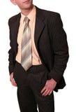 Undressing do homem de negócios Fotografia de Stock
