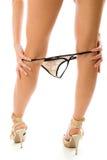 Undressing panties Stock Image