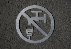 undrinkable ύδωρ σημαδιών Στοκ φωτογραφίες με δικαίωμα ελεύθερης χρήσης