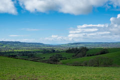 Undulating Countryside of Somerset. Scenic View of the Undulating Countryside of Somerset royalty free stock images