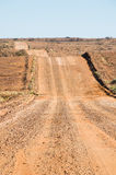 Undulating gravel road, Oodnadatta Track Stock Photo