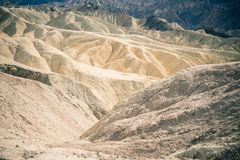 Undulating ripples in the landscape of Death Valley. Arizona Royalty Free Stock Photos