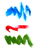 Undulating stroke from different paints Stock Photography