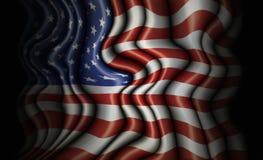 Undulating United States Flag. Convoluted and undulating flag of the United States Royalty Free Stock Image