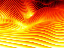 Undulating Wave Design Pattern Stock Image