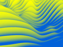 Undulating Wave Design Pattern Royalty Free Stock Photography