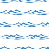 Undulating waves seamless background pattern. Undulating blue ocean an sea waves seamless background pattern in square format for textile or wallpaper design Royalty Free Stock Image