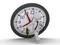 undvik att falla för klockastopptid Arkivfoto