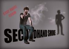 Undvik rökareillustrationen för andrahands- rök vektor illustrationer