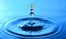 Une éclaboussure de baisse de l'eau