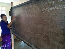 Une école dans Hispaw (Myanmar) Photo stock