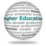 Une éducation plus élevée Photos stock