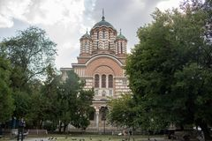 Une église à Bucarest photo stock