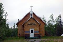 Une église minuscule en Alaska Photographie stock
