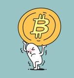 Une épaule d'homme une pièce de monnaie illustration stock