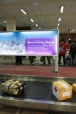 Une équipe médicale de mouche de la Thaïlande de Bangkok vers Katmandou à l'admi Images libres de droits