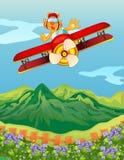 Une équitation de tigre dans un avion illustration de vecteur