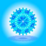 Une étoile bleu-clair et bleue simple de Noël avec une ombre sur le fond, sur le fond bleu-clair et blanc, comme carte, invitatio Image libre de droits