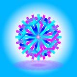 Une étoile bleu-foncé pourpre de Noël de skyblue simple avec une ombre sur le fond, sur le fond blanc bleu, comme carte, invitati illustration stock