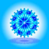 Une étoile bleue et bleu-foncé simple de Noël avec une ombre sur le fond, sur le fond bleu-clair et blanc, comme carte, invitatio Photographie stock libre de droits