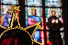 Une étoile dans la cathédrale de Vito de saint Image libre de droits