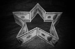 Une étoile de 100 billets d'un dollar Photos libres de droits