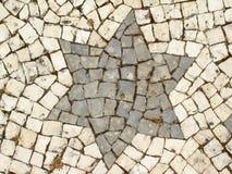 Une étoile en pierre Photographie stock libre de droits