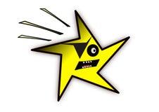 Une étoile observée. Image libre de droits