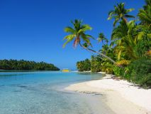 Une île de pied, îles Cook Photos stock